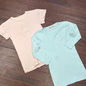 Bundle! Michael Stars 2 shirts pink blue small